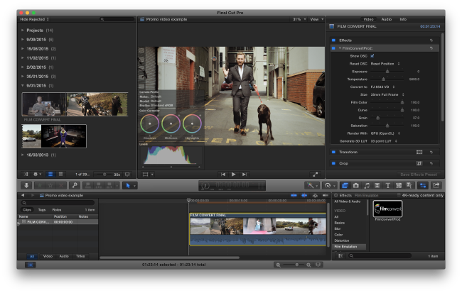 Final Cut Pro Plugin - FilmConvert